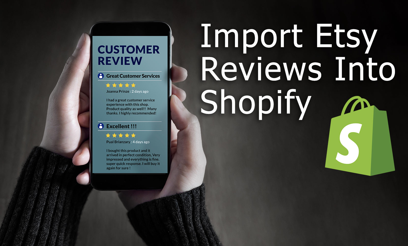 How to import Etsy reviews into Shopify